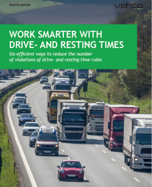 Work smarter with Vehco drive- and resting times